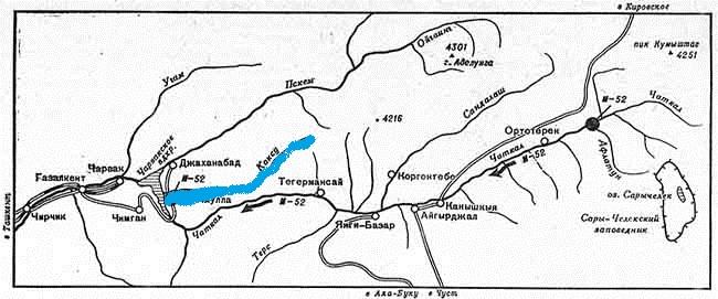 Река Коксу. Схема.