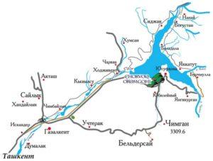 чарвакское водохранилище