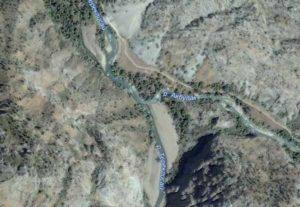 Место впадения Терекли-сая в Акбулак.