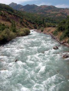 Река Угам. В среднем течении.